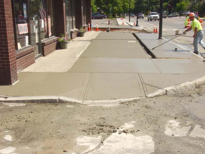 Streetscape Sidewalk pour