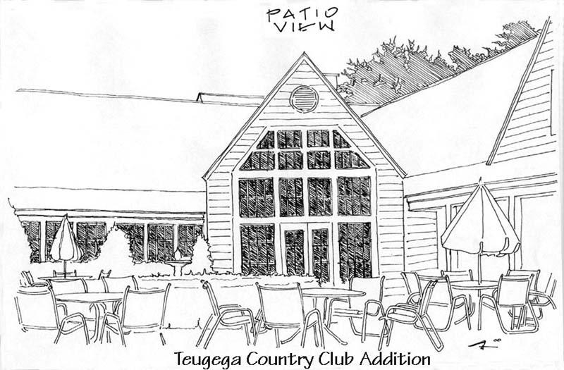 Teugega County Club Addition Sketch